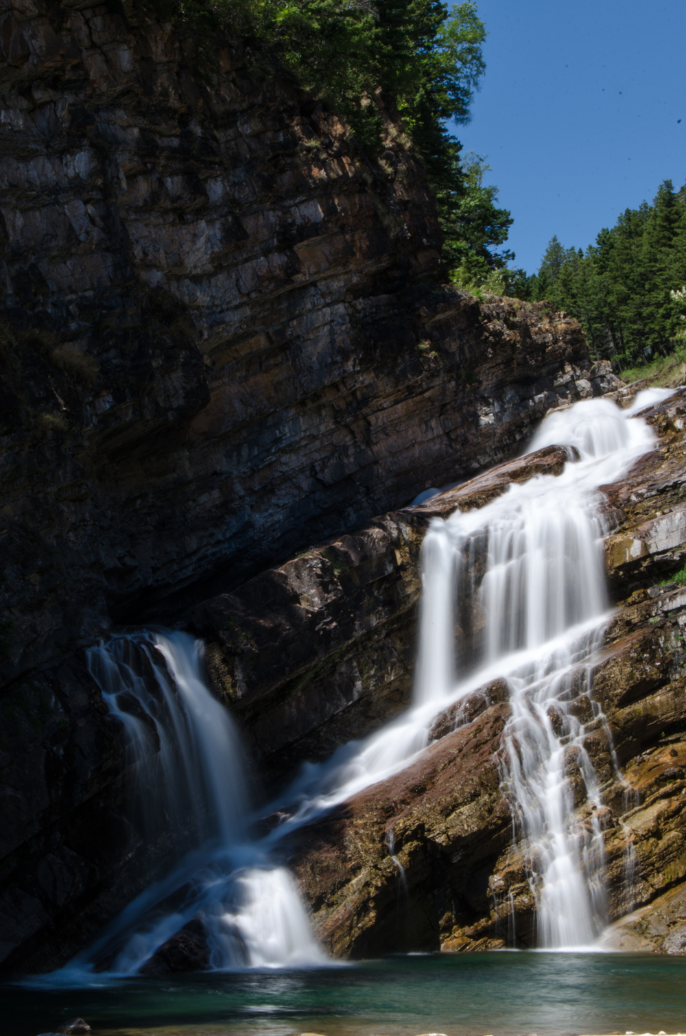 Waterton Waterfall