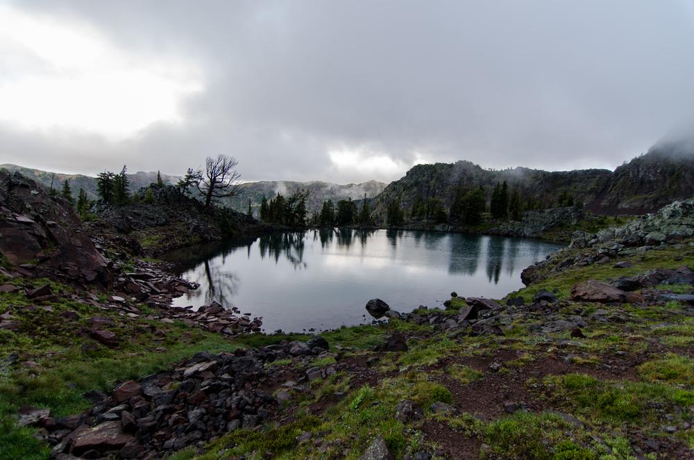Cloudy evening at Swim lake