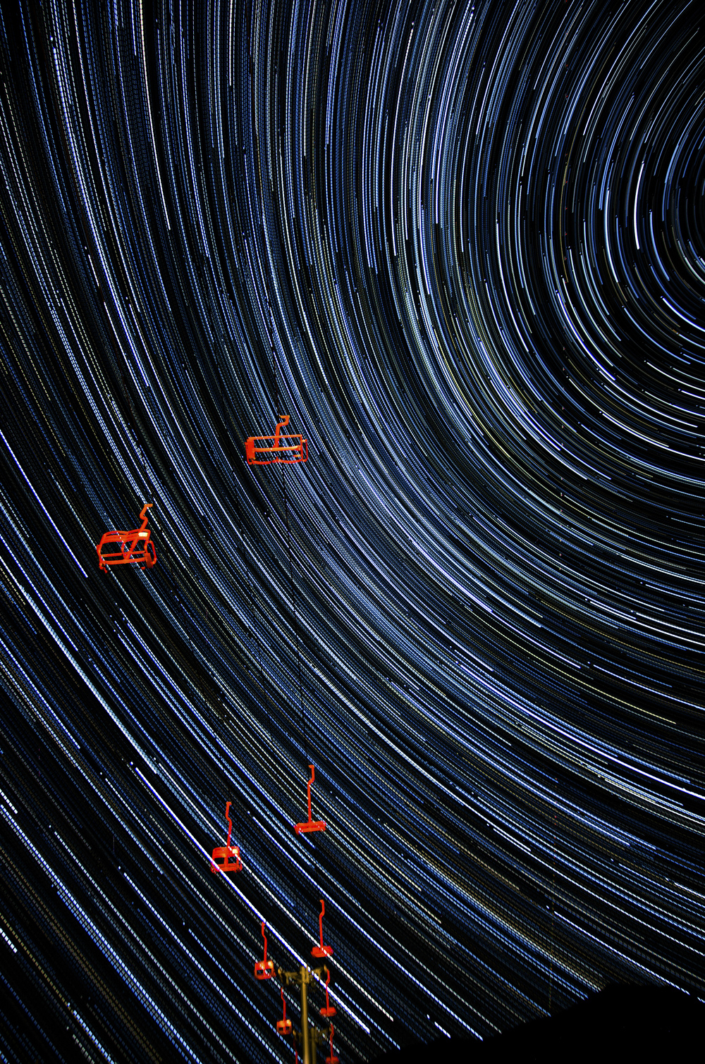 Red Chair Star Trails