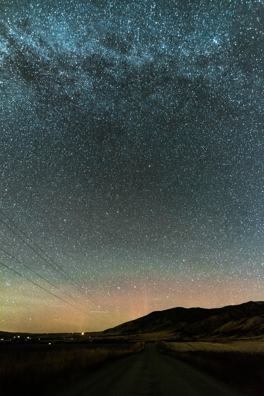 Aurora under the Stars