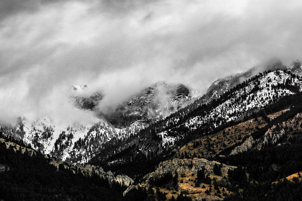Clouds in the Bridgers