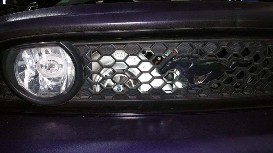 2014 Mustang Gt Custom Turbo Kit, Mounted Behind Grill