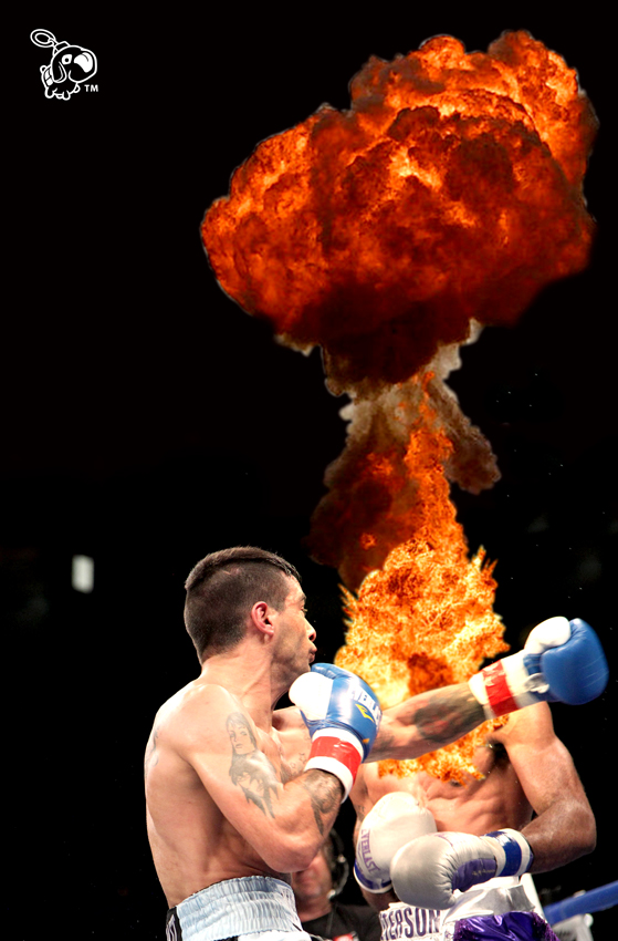 Lucas Matthysse vs Lamont Peterson Round 3 (there were no more rounds).