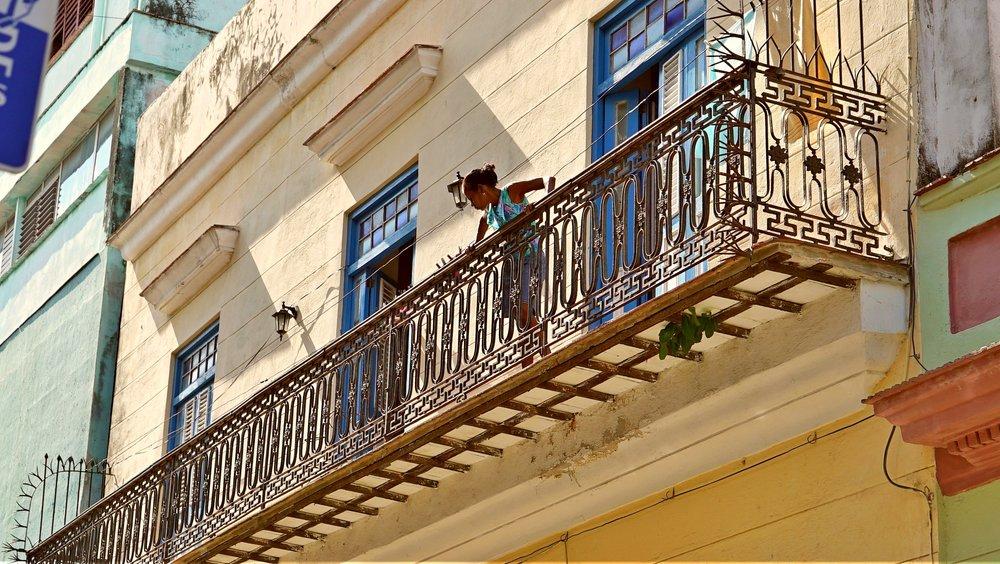 Bianca Hits Cuba - Young Girl on Old Havana Balcony.jpg