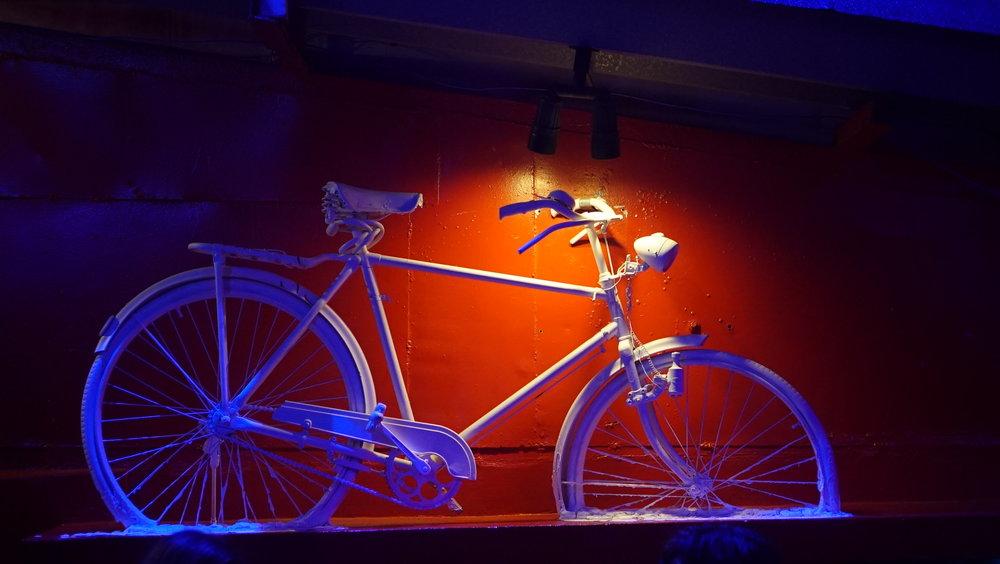 Bianca Jeanty Hits Cuba - Fabrico de Arte Bicycle Scrulpture.JPG