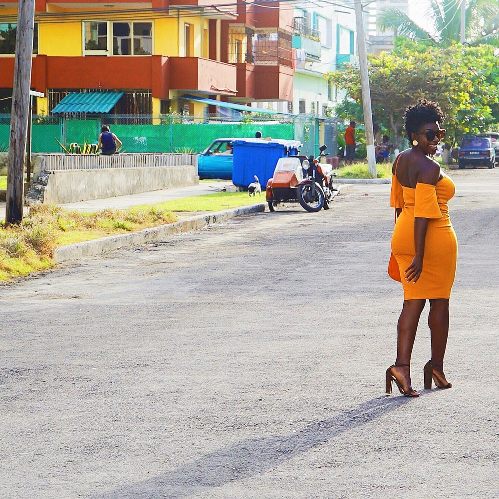 black-girl-magic-yellow-dress-havana-cuba