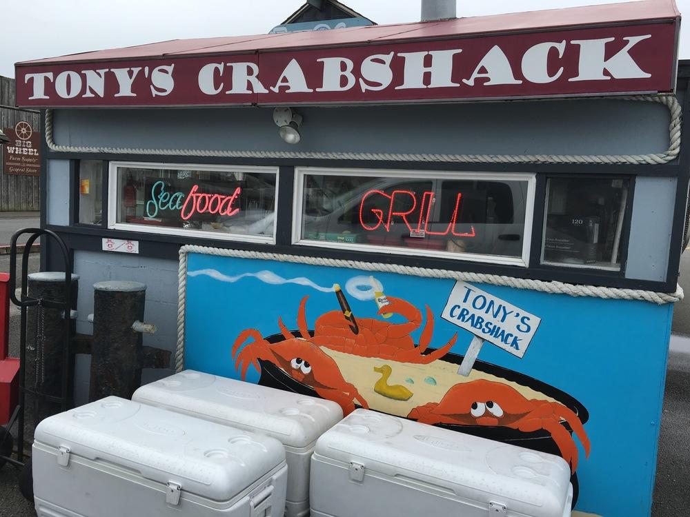 Tony's Crabshack on the Oregon coast.