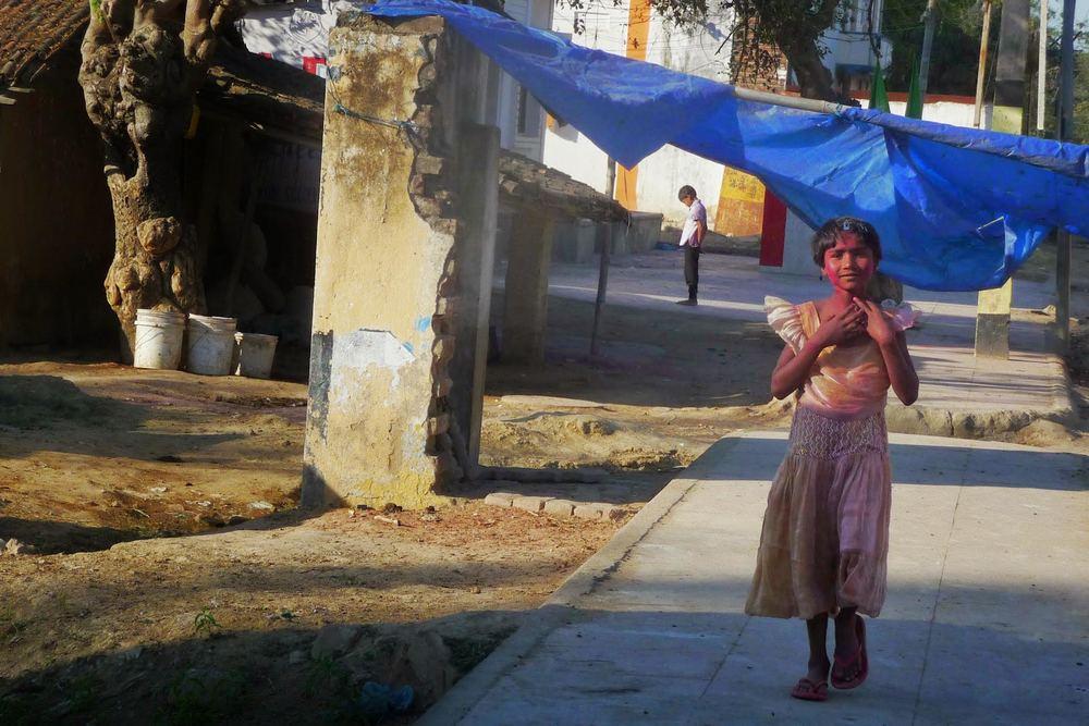 Celebrating Holi in India.