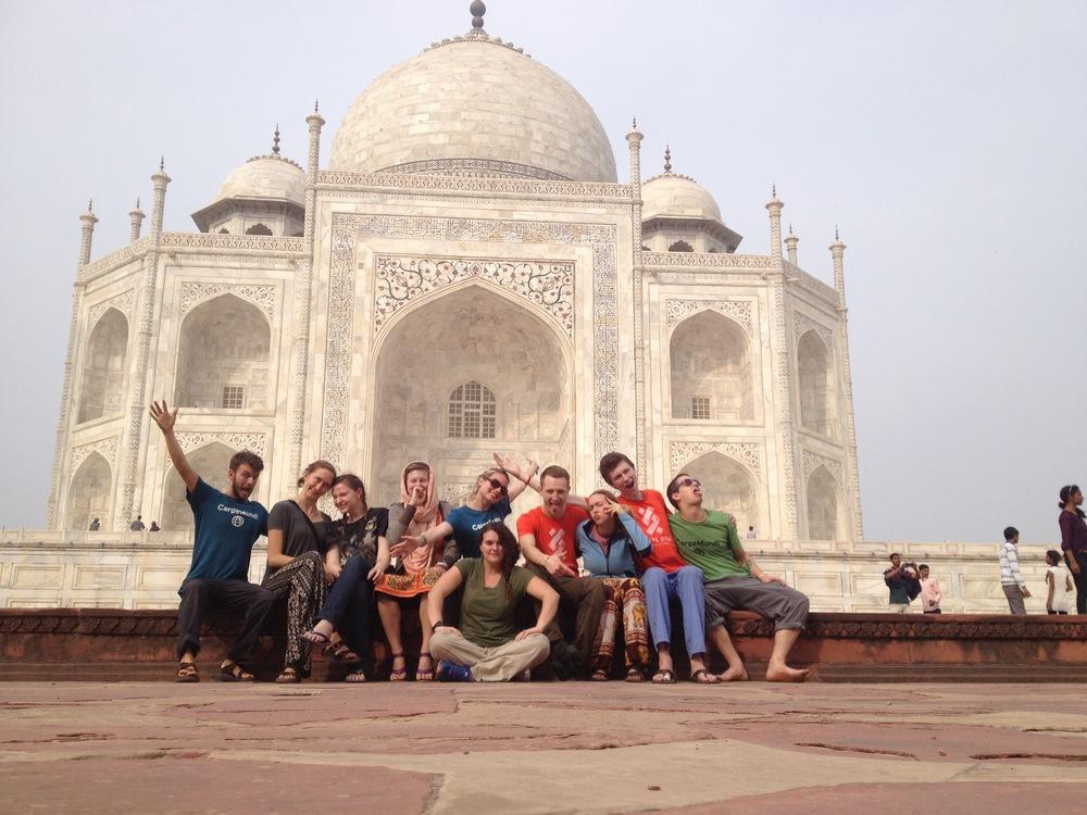 Taj Mahal with Carpe Diem Education.