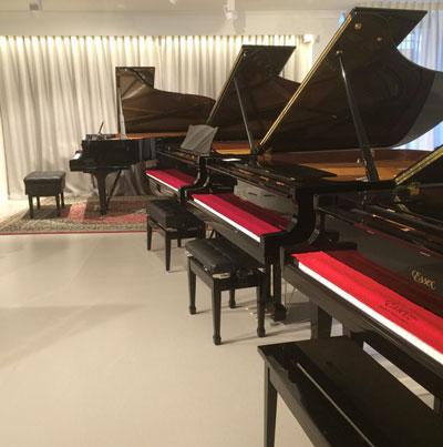 New piano showroom