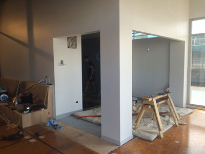 Cafe kitchen progress