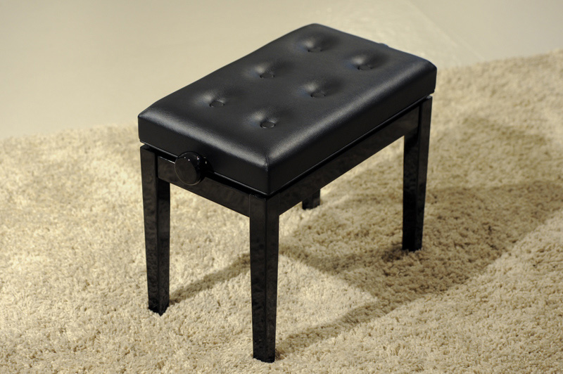HY-P J025 - Adjustable single stool in ebony finish  |  $240.