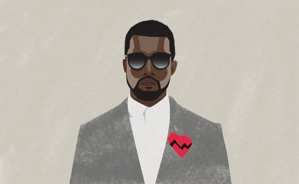 Kanye West, 2016. Digital illustration