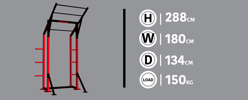 Half Rack Diagram & Dimensions