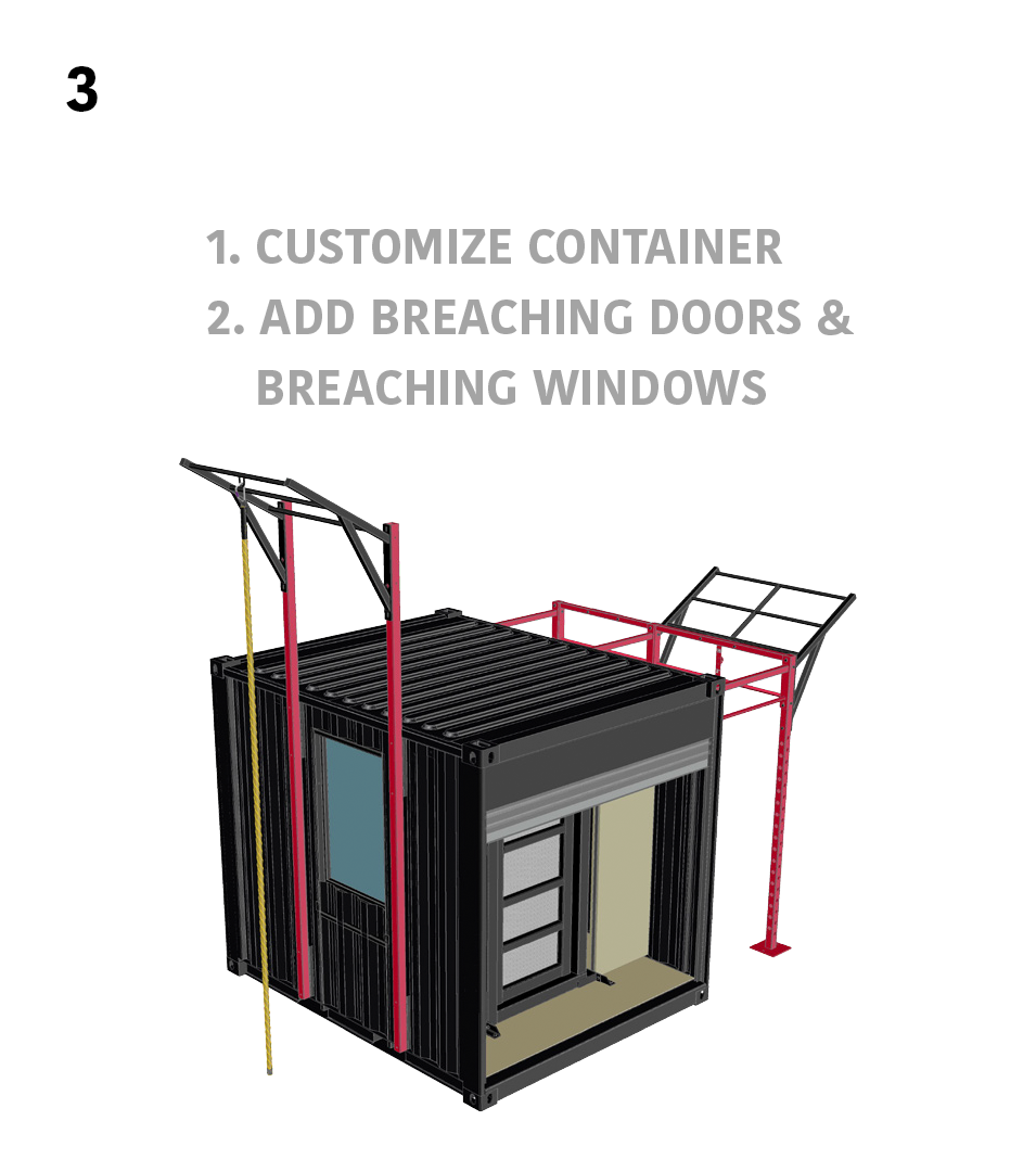 3.) Advanced Breaching- 1. Customize Container 2. Add Breaching Doors & Breaching Windows