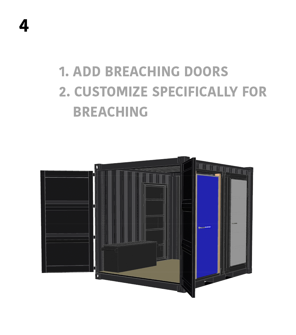 4.) Breaching Specific- 1. Add Breaching Doors 2. Customize Specifically For Breaching