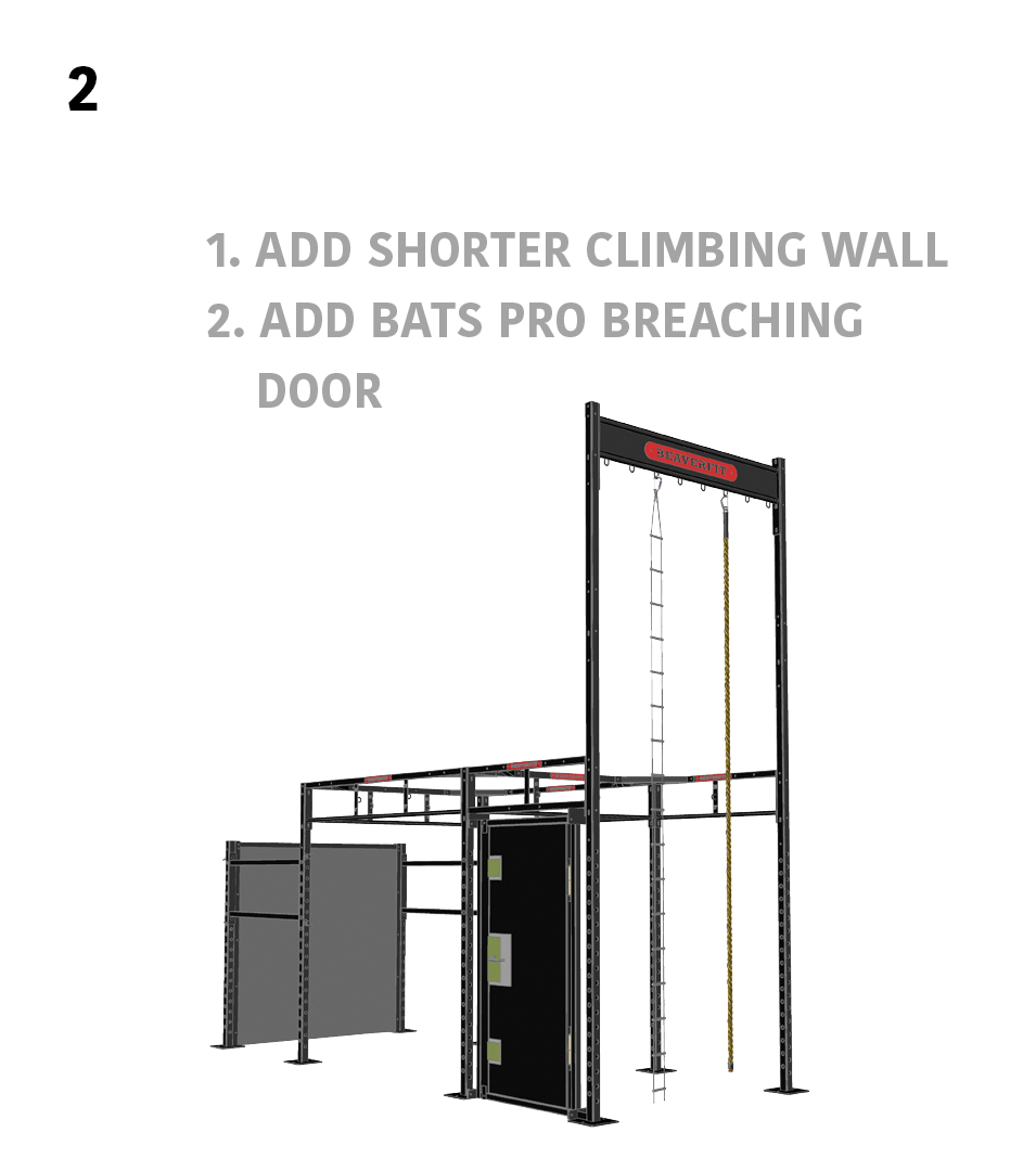 2.) Smaller Circuits- 1. Add Shorter Climbing Wall, 2. Add BATS Pro Breaching Door
