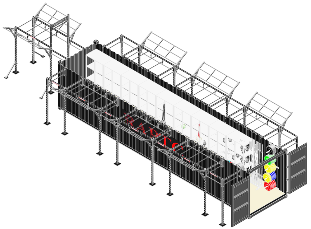 40'  Deployable  Locker Diagram