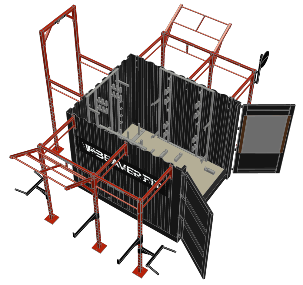10' Deployable Locker Diagram