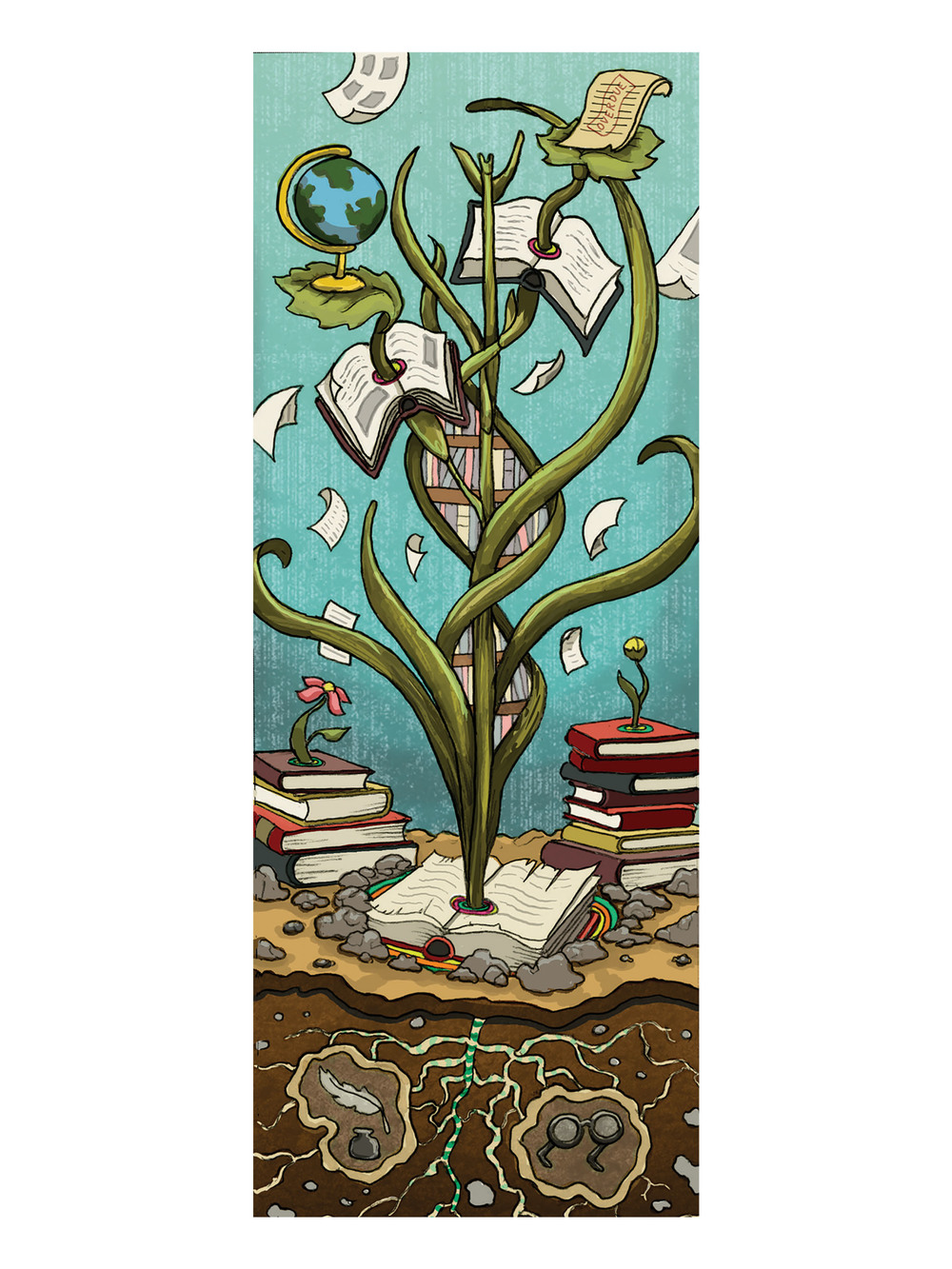 Entry to SCAD Library bookmark contest