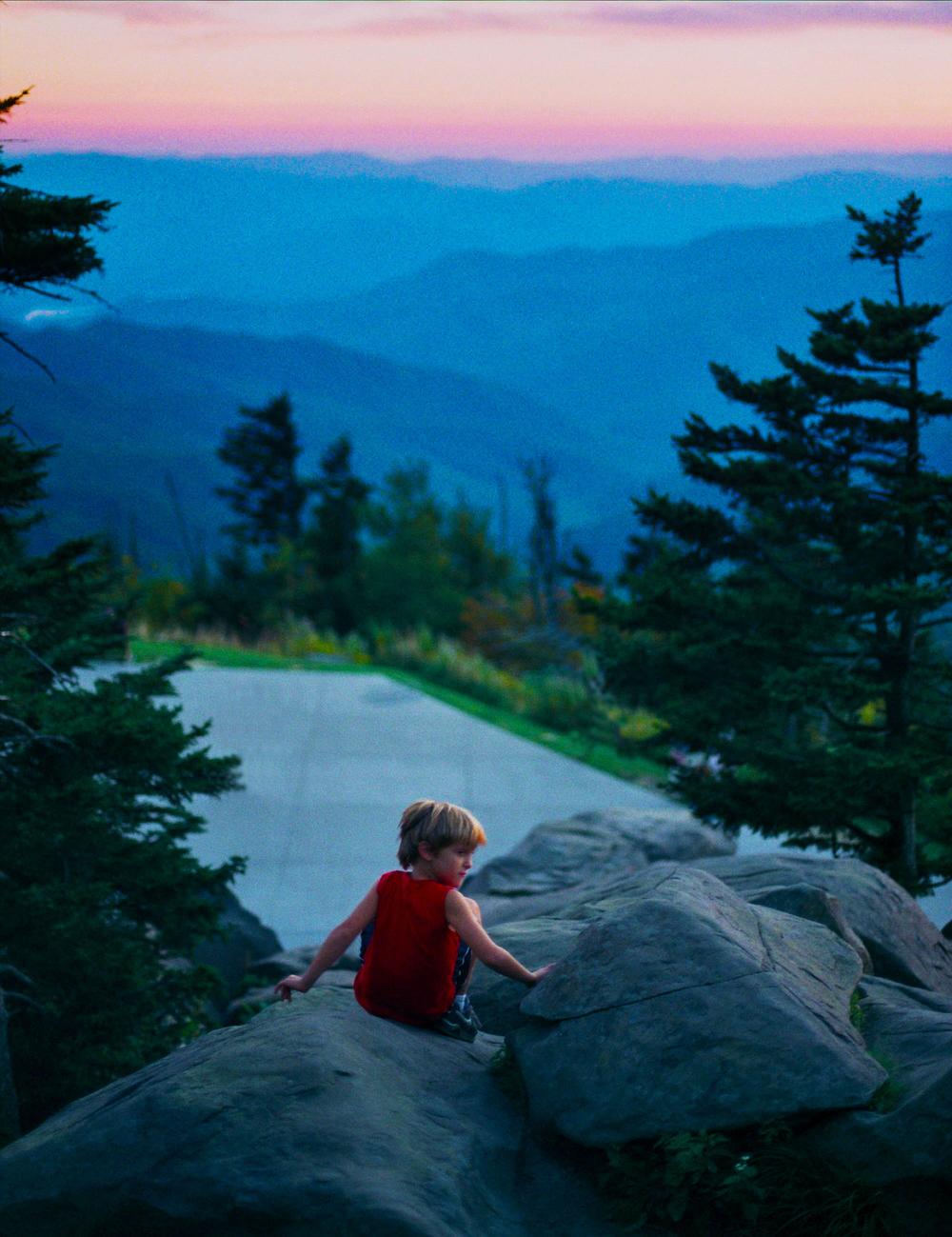 Boy in Smokey Mountains, 2015