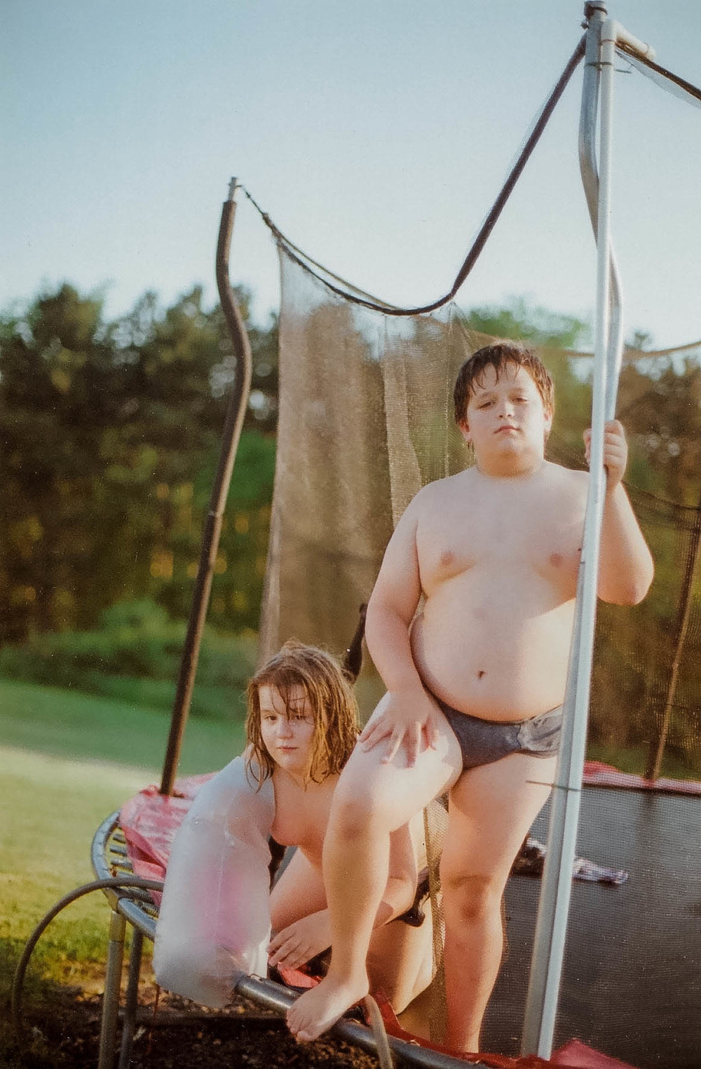 Meredith and Hunter on Trampoline, 2014
