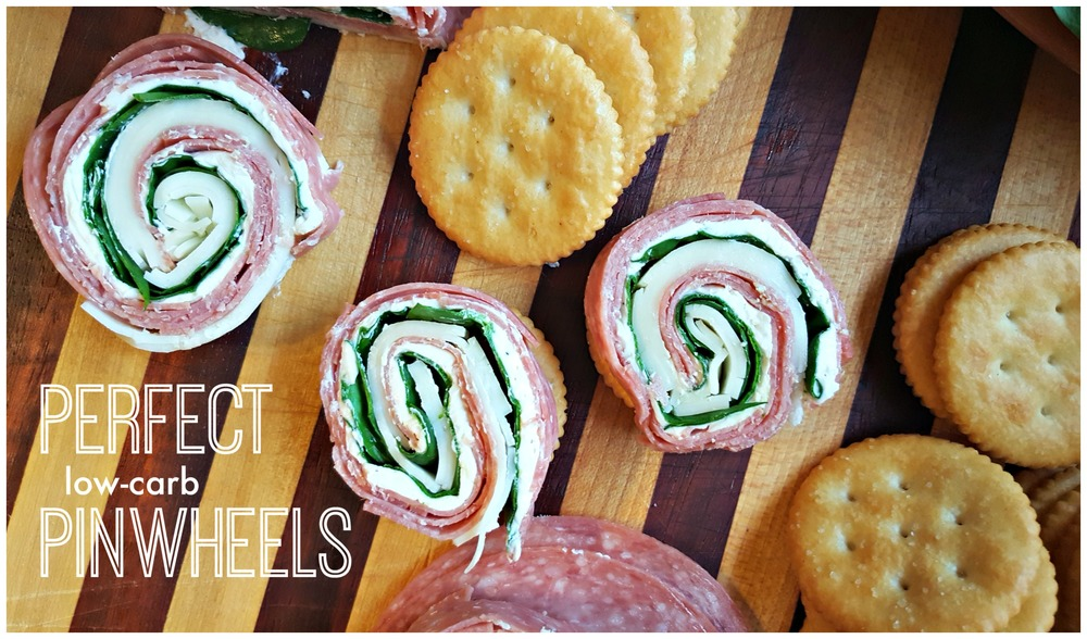 RITZ Crackers, Salami, Cream Cheese, Provolone and Spinach