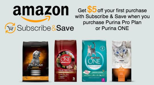 With Amazon's Subscribe & Save, you can save $5 off your first purchase, Save 5% when you subscribe for one product, and Save up to 15% when you subscribe for five products