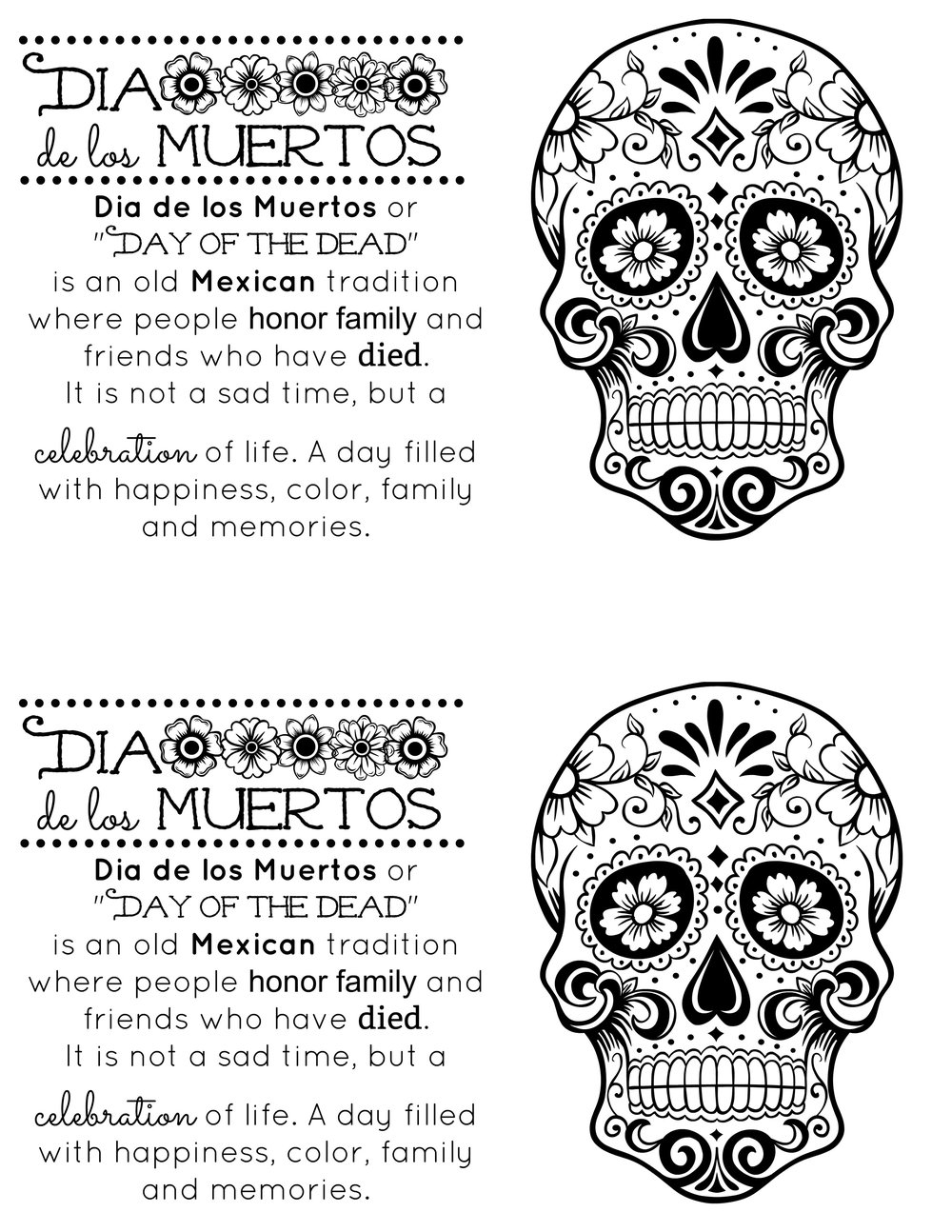 How to Share Dia de los Muertos with your classmates — KindaSillyMommy