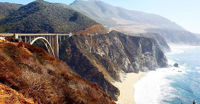 This view from our recent road trip along the California coast was breathtaking. If you haven't taken the scenic view up north, I highly reccomend it. #bixbybridge #bigsur #california #pch #beach #coast #travel
