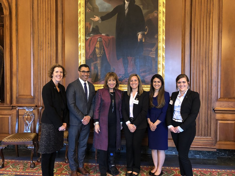 SfN California trainees with Jackie Speier, representative for California's 14th district. Alex is pictured third from the right.