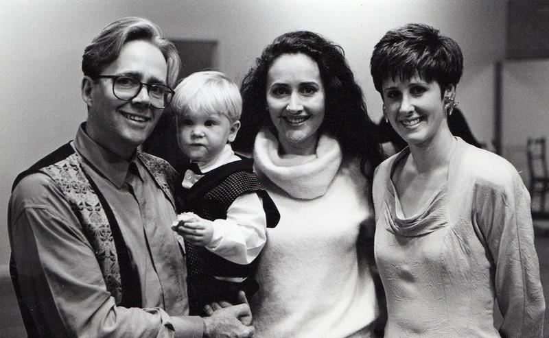 Centrestage Launch 1990 L-R Ian White, Jordan White, Marina Prior & Leanne White.