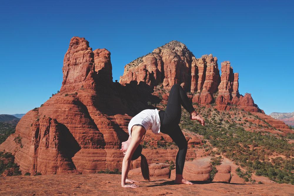 Little Horse Hike Sedona Arizona Yoga Pose
