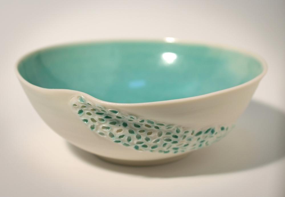 Porcelain vessel - turquoise Asia