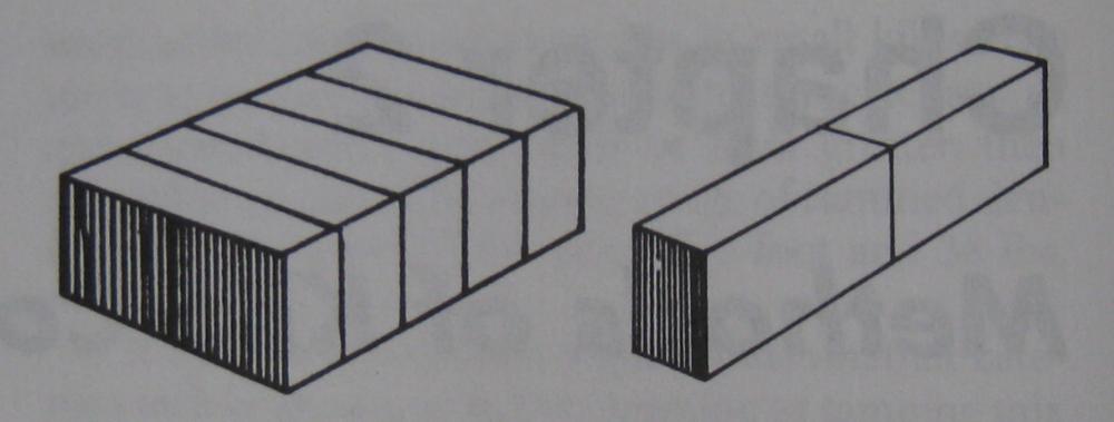 A la izquierda, los ladrillos están puestos a lo ancho; a la derecha, a lo largo. (*)
