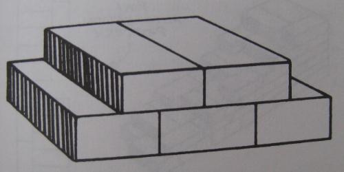 Pared de ladrillos puestos a lo ancho - la segunda posibilidad que os recomiendo para mayor estabilidad y aislamiento óptimo. (*)