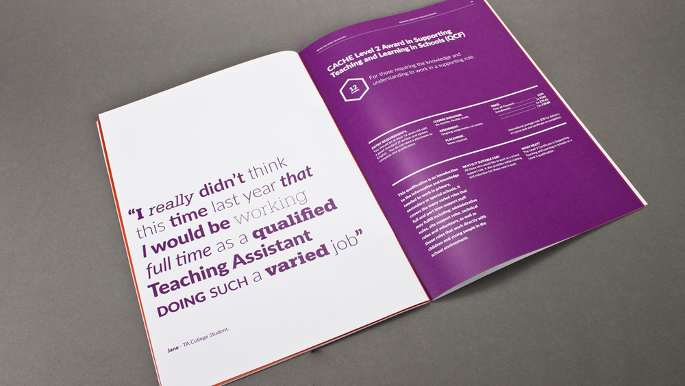 Teaching Assistant College Prospectus spread