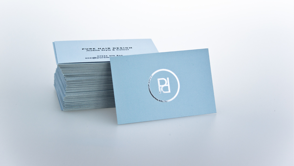 Pure Hair Design Business Cards
