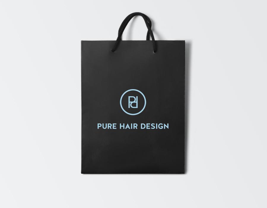 Pure Hair Design Tote Bag design