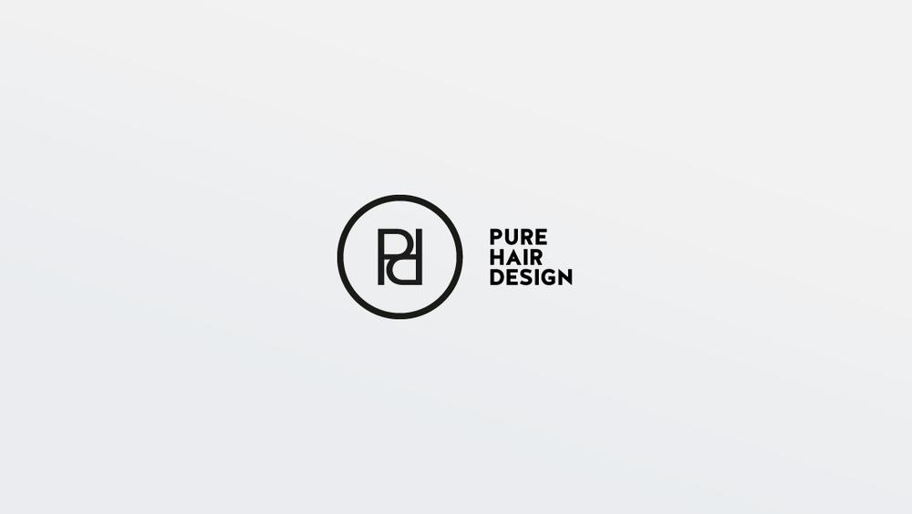 Pure Hair Design Logo