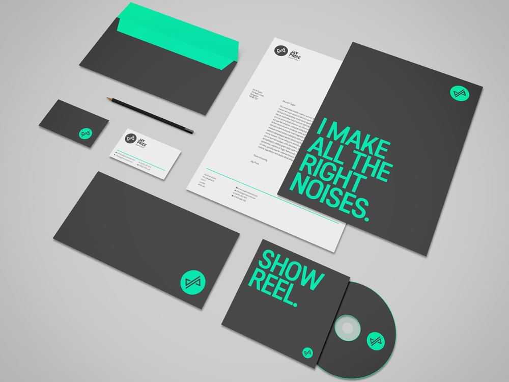 Jay Price Sound Editor Brand Stationery