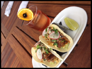 Old Fashioned & ShortRibTaco at Silver.  Photo credit: Richard Torres