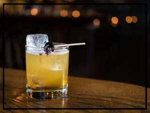 Quarter and Glory's Sundown cocktail.