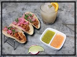 Taqueria del Barrio's Show Me Your Pepita Carnitas Tacos.
