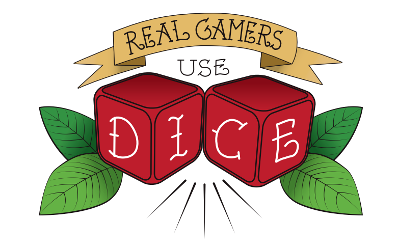 Cool looking tabletop gaming swag! Real Gamers Use Dice: https://www.realgamersusedice.com/