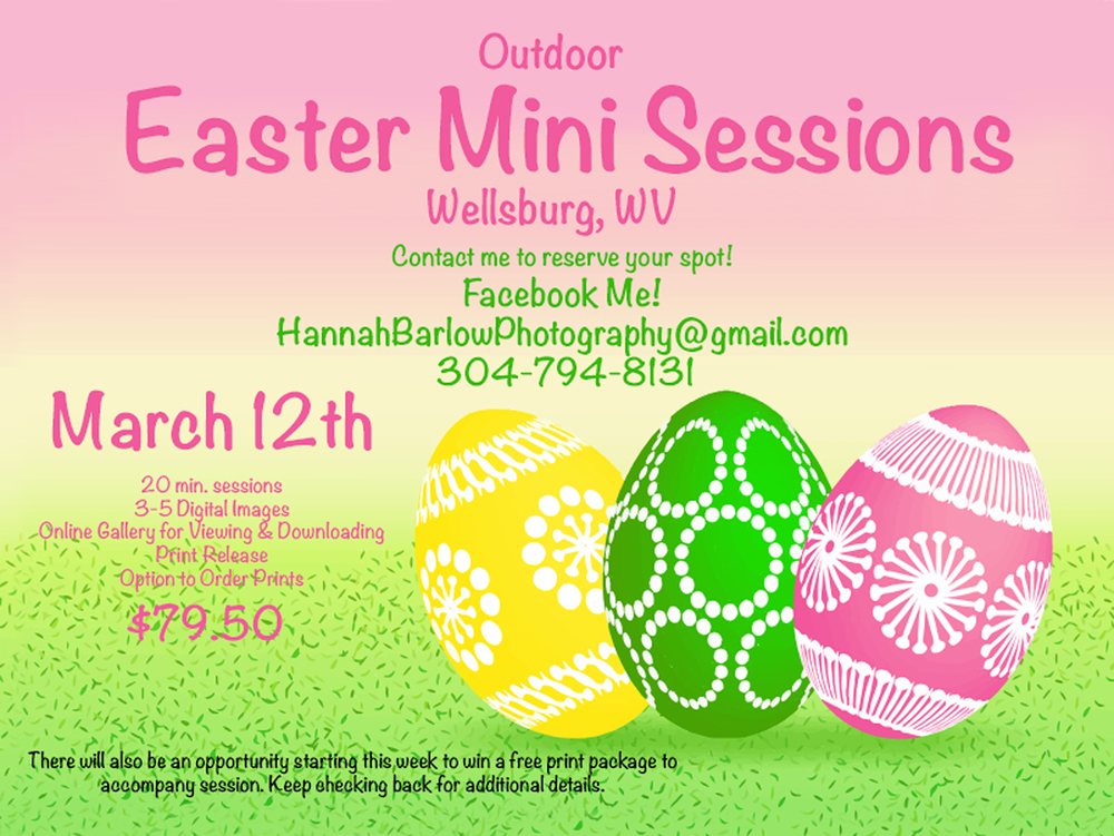 Wellsburg, WV Easter Mini Sessions