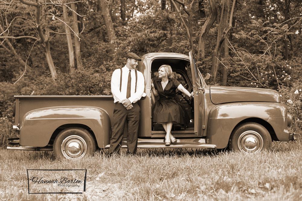 Wellsburg, WV 1950's Engagement Photo