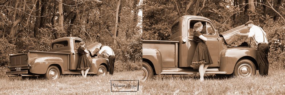 Wellsburg 1950's Engagement Photo
