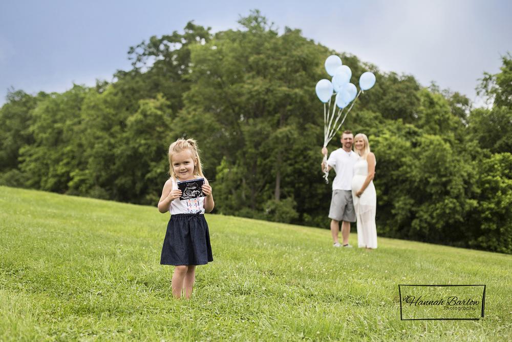 Wellsburg, WV Maternity Gender Reveal Photo