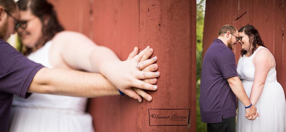 Rustic Barn Engagement Photo Bethany, WV